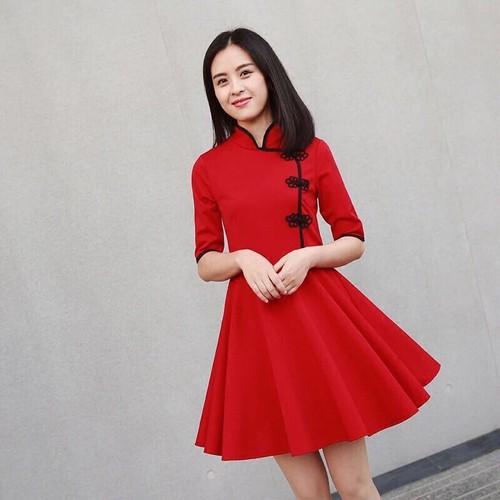 Đầm nữ kiểu Tàu - 7339617 , 13996268 , 15_13996268 , 109000 , Dam-nu-kieu-Tau-15_13996268 , sendo.vn , Đầm nữ kiểu Tàu