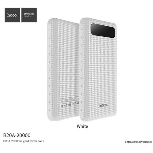Pin sạc dự phòng Hoco B20A 20000mAh LCD - Trắng