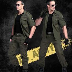 Quần áo nam - Bộ quần áo hộp kaki lính mỹ