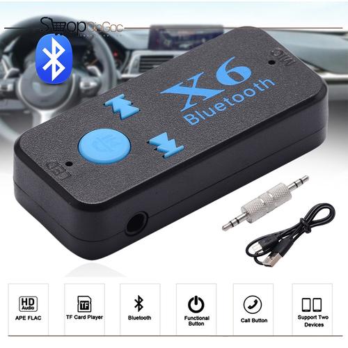 Bộ Kết Nối Âm Thanh Xe Ô Tô Bluetooth Car X6