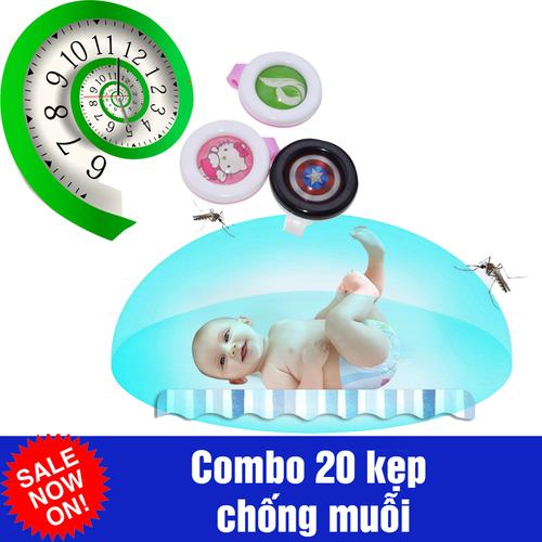 Combo 20 kẹp chống muỗi cho bé