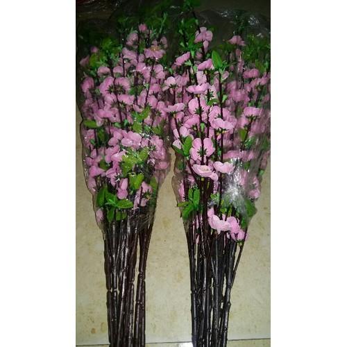 10 cành hoa đào màu hồng phai