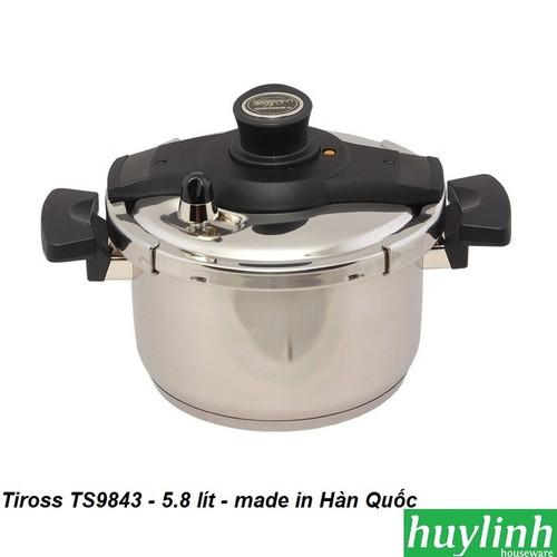 Nồi áp suất đáy từ Tiross TS9843 - 5.8 lít - made in Hàn Quốc