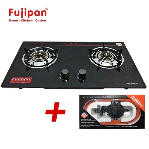 Bếp ga âm Fujipan chén đồng FJ-8910V, Đánh lửa IC + Bộ dây van ngắt gas tự động Namilux