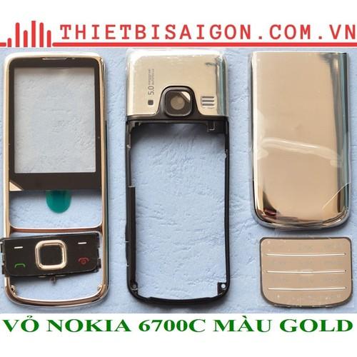VỎ NOKIA 6700C MÀU GOLD