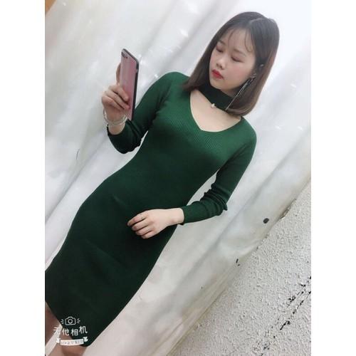 váy len nhũ body