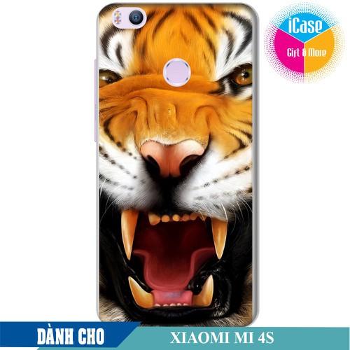 Ốp lưng nhựa dẻo dành cho Xiaomi Mi 4s in hình Tiger