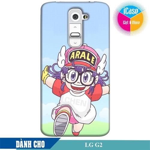 Ốp lưng nhựa dẻo dành cho LG G2 in hình Arale