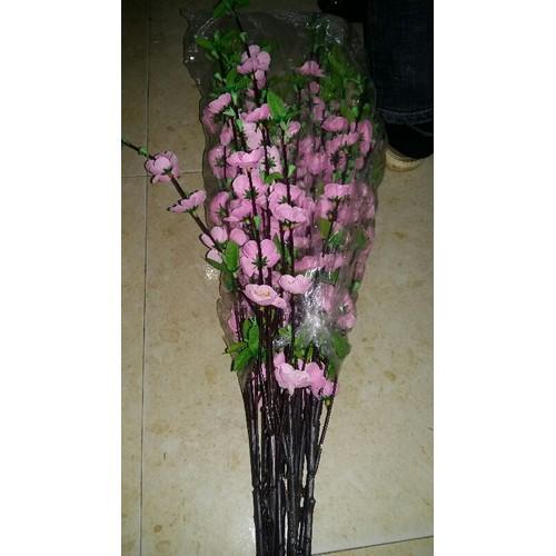 5 cành hoa đào màu hồng phai