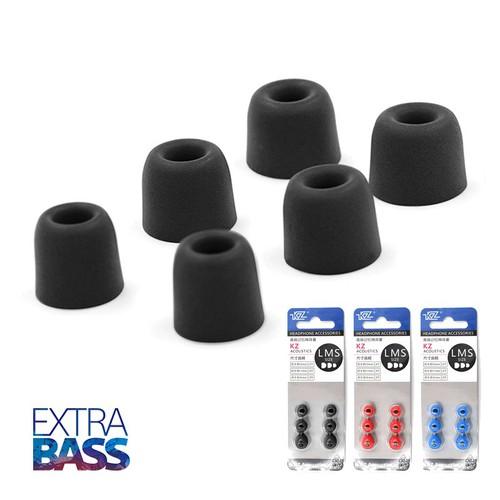 Bộ nút tai nghe bọt biển hiệu KZ  [3 cặp size S M L] siêu cách âm, tăng bass
