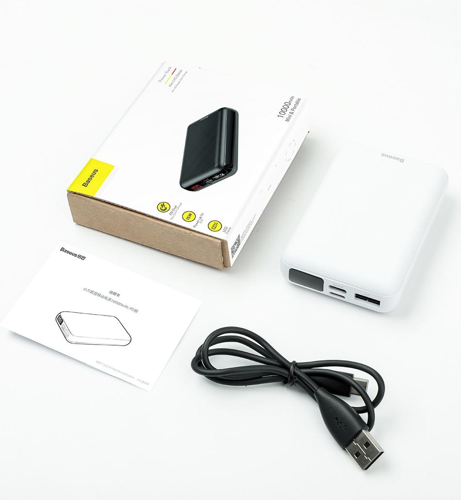 Pin dự phòng sạc nhanh Baseus Mini S Digital Display Power Bank 10,000mAh,  giá tốt nhất 299,000đ! Mua nhanh tay!