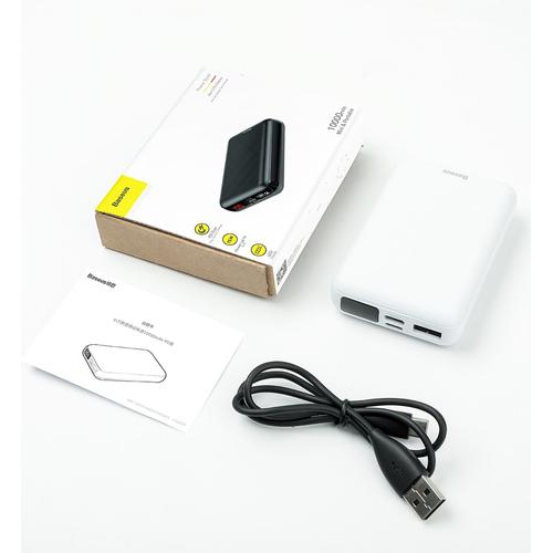 Pin dự phòng sạc nhanh baseus mini s digital display power bank 10,000mah