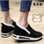 Giày Slip On Da Lộn Độn Đế 7cm sành điệu L18