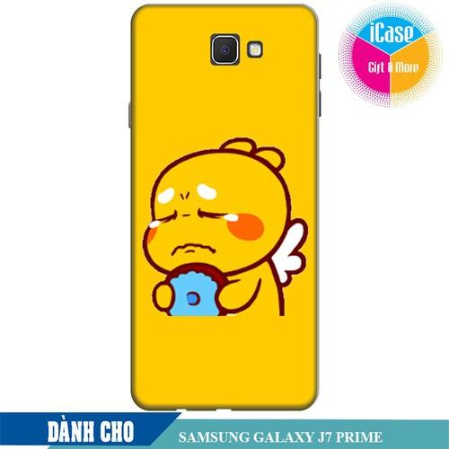 Ốp lưng nhựa dẻo dành cho Samsung Galaxy J7 Prime in hình Qoobee Buồn