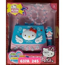 Giỏ Xách Micro Âm Nhạc Hello Kitty - Đồ chơi âm nhạc - Đồ chơi bé gái