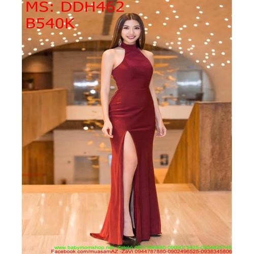 Đầm dự tiệc dài cổ yếm và xẻ đùi màu đỏ thời trang DDH462 - 7376648 , 14019006 , 15_14019006 , 540000 , Dam-du-tiec-dai-co-yem-va-xe-dui-mau-do-thoi-trang-DDH462-15_14019006 , sendo.vn , Đầm dự tiệc dài cổ yếm và xẻ đùi màu đỏ thời trang DDH462