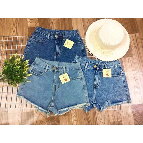 Quần short jean nữ tối giản
