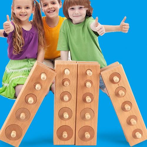 Đồ chơi gỗ, Bộ 4 thanh gỗ đồ chơi phân loại hình khối