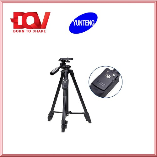 Bộ Tripod Kèm Remote Chụp Ảnh Dành Cho Điện Thoại Yunteng VCT 5208 - Hàng Chính Hãng
