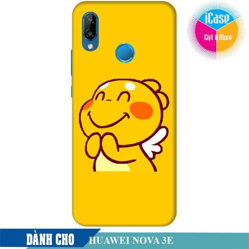 Ốp lưng nhựa dẻo dành cho Huawei Nova 3e in hình Qoobee Mãn Nguyện