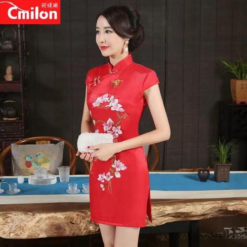 Đầm nữ kiểu Tàu - 7387903 , 14025707 , 15_14025707 , 109000 , Dam-nu-kieu-Tau-15_14025707 , sendo.vn , Đầm nữ kiểu Tàu