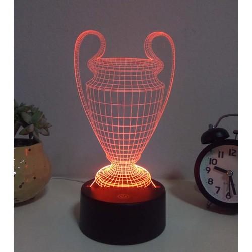 Đèn ngủ, đèn trang trí Led 3D, Đèn ngủ 7 màu mini Chiếc Cúp