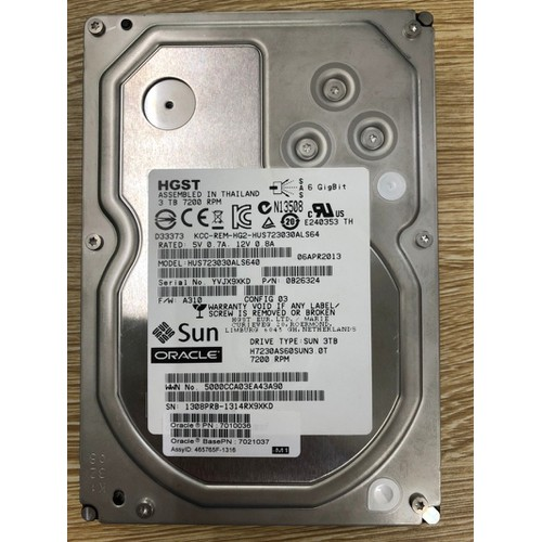 Ổ Cứng Server Sun 3TB 7200rpm SAS 2.5Inch