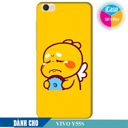 Ốp lưng nhựa dẻo dành cho Vivo Y55s in hình Qoobee Buồn