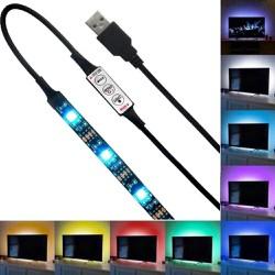 5V 5050 60SMD , M RGB Màu LED USB Dải đèn Bar TV Back Chiếu sáng Trang trí nội thất 2 MÉT
