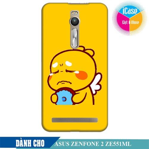 Ốp lưng nhựa dẻo dành cho Asus Zenfone 2 ZE550ML in hình Qoobee Buồn