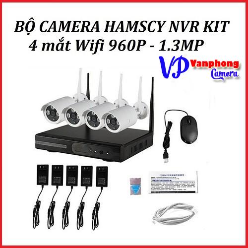 Bộ Kit Camera không dây 4 mắt 960P-Bảo hành chính hãng 24 tháng