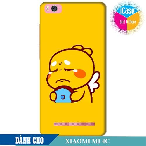 Ốp lưng nhựa dẻo dành cho Xiaomi Mi 4C in hình Qoobee Buồn