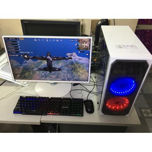 Bộ máy tính chơi Game i3 , Màn hình 24 inch Full HD Trọn bộ, CPU, màn hình... tặng bàn phím chuột Led giả cơ,  1 USB tự động kết nối mạng wifi