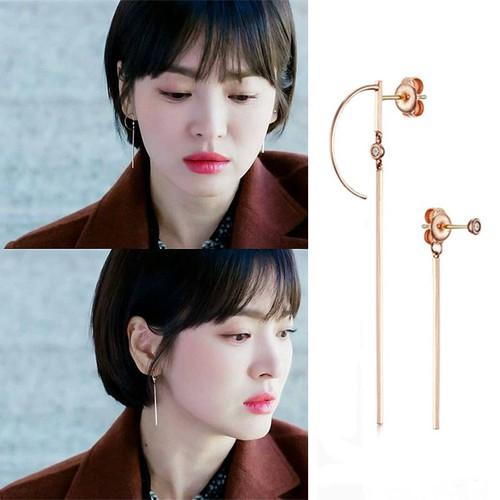 Bông tai nữ Song Hye Kyo phim Gặp Gỡ - Encounter bạc Ý S925 hoa tai khuyên tai BT576