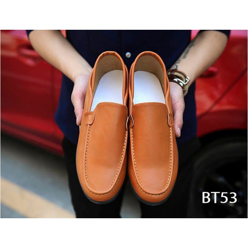 Giày Da Nam Cao Cấp Phong Cách Hàn Quốc BT53-Nâu