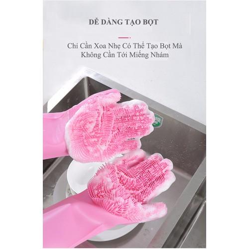 Găng tay silicon kiêm miếng rửa bát đa năng