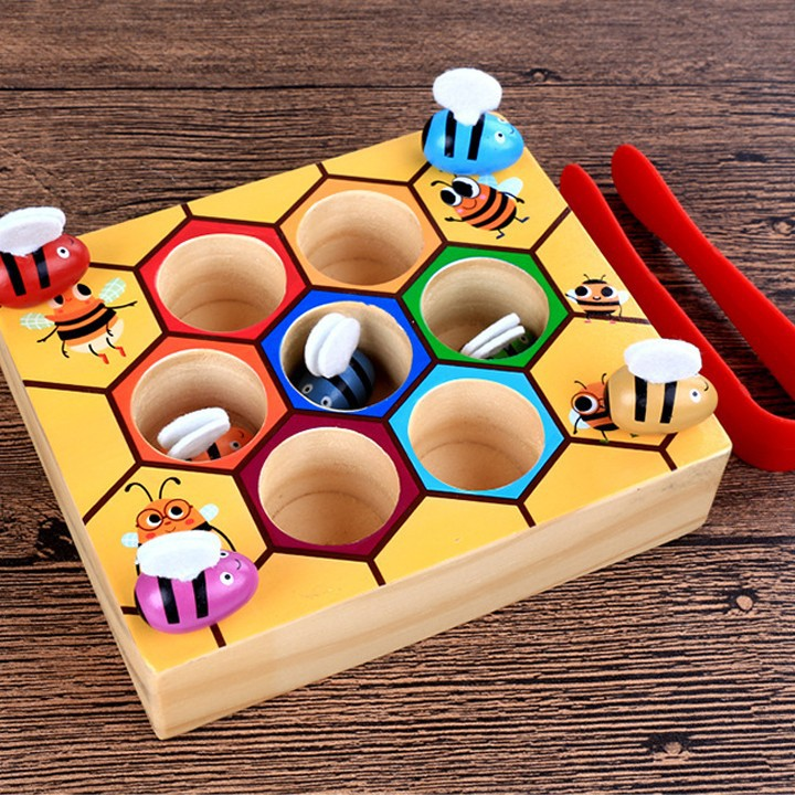 Bộ đồ chơi gắp ong về tổ cho bé vui chơi 5