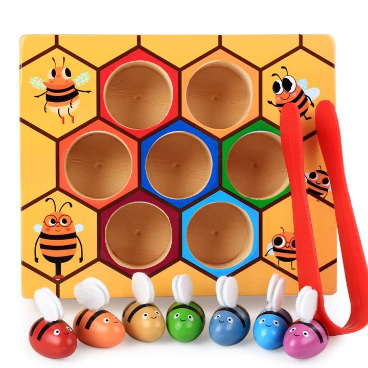Bộ đồ chơi gắp ong về tổ cho bé vui chơi 8