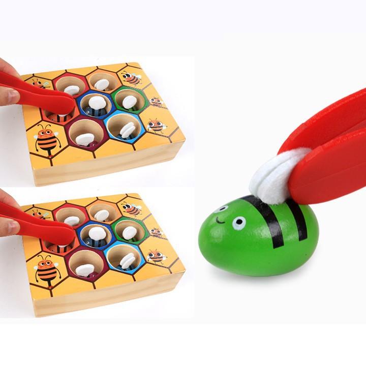 Bộ đồ chơi gắp ong về tổ cho bé vui chơi 4