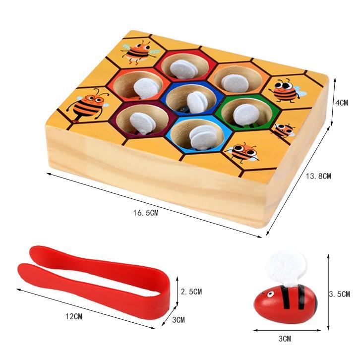 Bộ đồ chơi gắp ong về tổ cho bé vui chơi 10