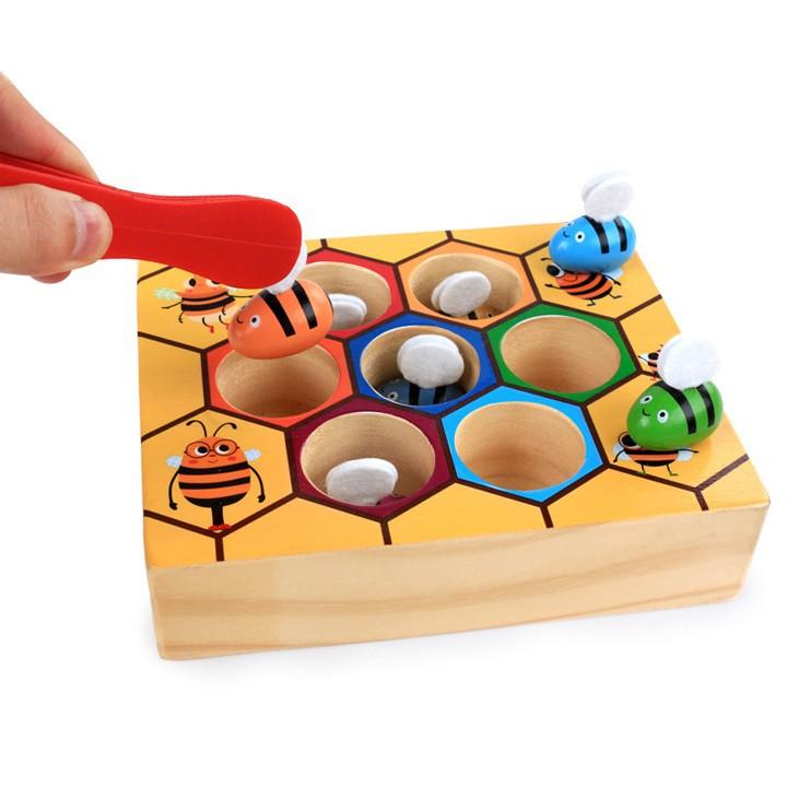 Bộ đồ chơi gắp ong về tổ cho bé vui chơi 2