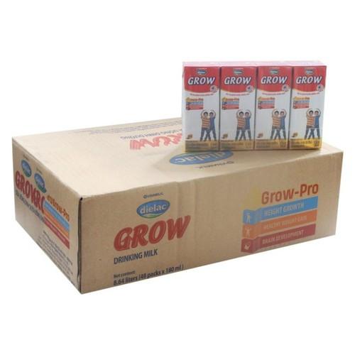 Thùng 48 hộp sữa bột pha sẵn Dielac Grow màu đỏ VINAMILK - hộp 180ml