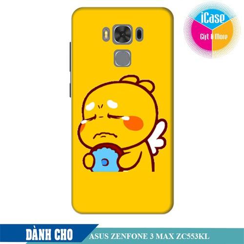 Ốp lưng nhựa dẻo dành cho Asus Zenfone 3 Max ZC553KL in hình Qoobee Buồn