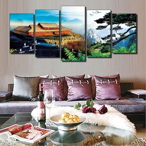 Tranh tường thiên nhiên  phòng khách