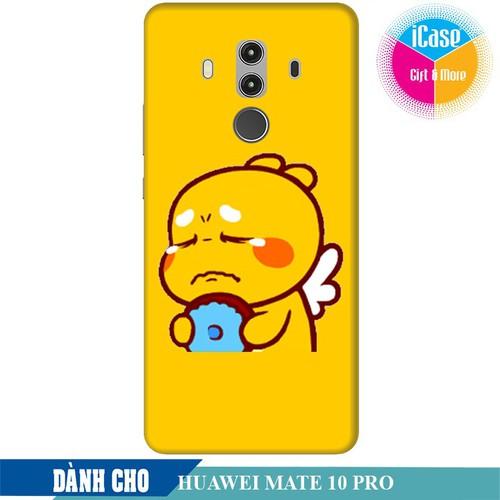 Ốp lưng nhựa dẻo dành cho Huawei Mate 10 Pro in hình Qoobee Buồn