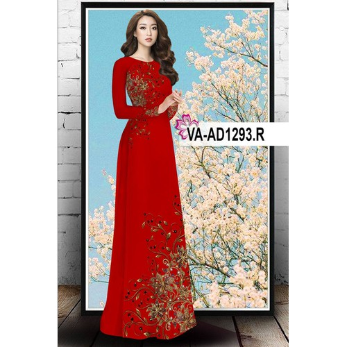 Vải áo dài BỘ in 3D -  VA 1293