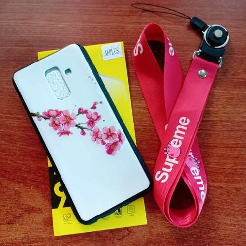 ốp samsung A6 cộng và A6plus tặng cường lực kèm dây đeo điện thoại