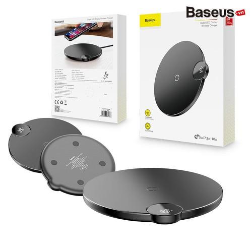 Đế sạc nhanh không dây Baseus Digital LED Display 7.5W 10W