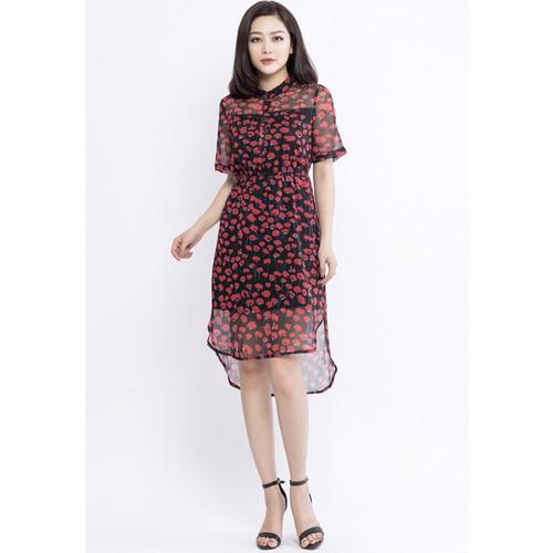 Đầm Maxi Cổ Tàu, Chun Eo LAMER