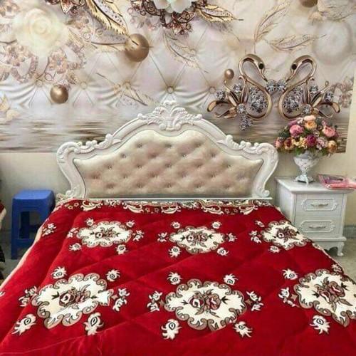 chăn lông cừu mẫu đỏ hoàng gia
